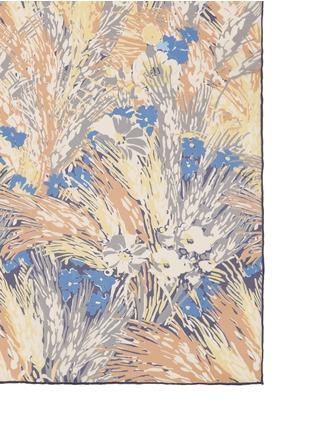 细节 - 点击放大 - VALENTINO - 花园印花缎面真丝围巾