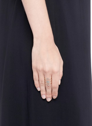 Yannis Sergakis Adornments - 'Charnières' diamond 18k gold triple band ring