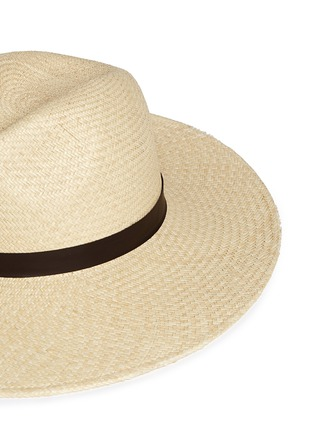 Detail View - Click To Enlarge - Janessa Leone - 'Gloria' leather band straw Panama hat