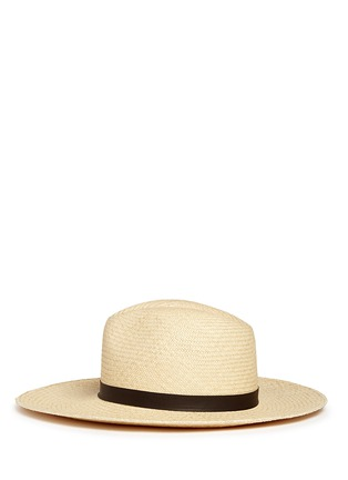 Figure View - Click To Enlarge - Janessa Leone - 'Gloria' leather band straw Panama hat