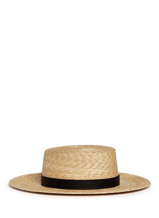 Figure View - Click To Enlarge - Janessa Leone - 'Klint' leather band straw Panama hat