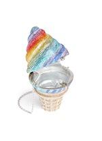 'Ice Cream Cone' crystal pavé minaudière