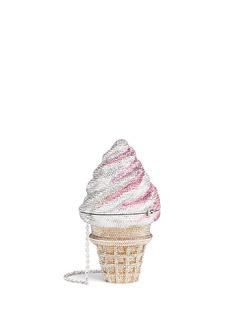 Judith Leiber'Ice Cream Cone' crystal pavé minaudière