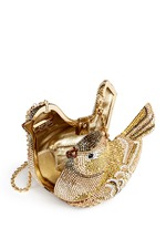 'Goldfinch' crystal pavé bird minaudière