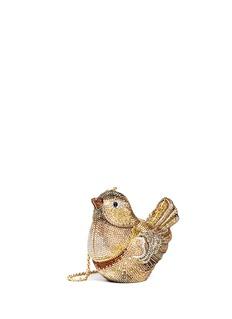 Judith Leiber'Goldfinch' crystal pavé bird minaudière