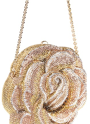 Detail View - Click To Enlarge - Judith Leiber - 'New Rose' crystal pavé minaudière