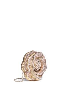 Judith Leiber'New Rose' crystal pavé minaudière