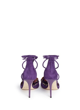 Back View - Click To Enlarge - Jimmy Choo - 'Mindy 85' tassel charm suede sandals