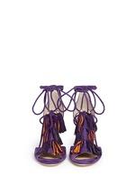 'Mindy 85' tassel charm suede sandals