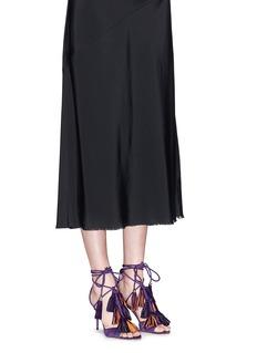 JIMMY CHOO'Mindy 85' tassel charm suede sandals
