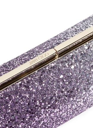 Detail View - Click To Enlarge - Jimmy Choo - 'Trinket' dégradé glitter cylinder clutch