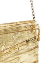 'Candy' crinkle metallic lamé acrylic clutch