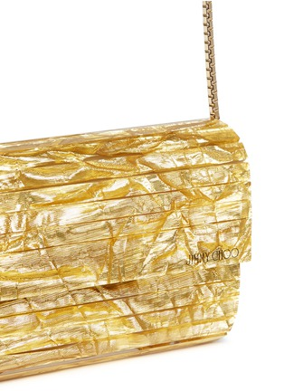 Detail View - Click To Enlarge - Jimmy Choo - 'Sweetie' crinkle metallic lamé acrylic clutch