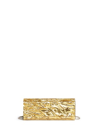 Back View - Click To Enlarge - Jimmy Choo - 'Sweetie' crinkle metallic lamé acrylic clutch