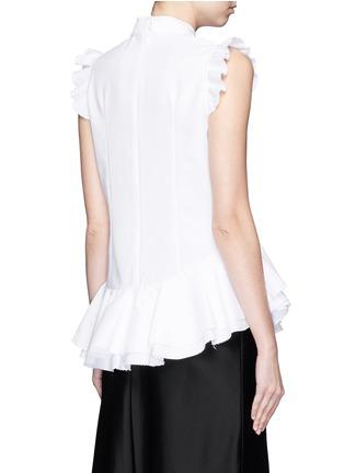 Back View - Click To Enlarge - ERDEM - 'Camelia' cotton piqué ruffle blouse