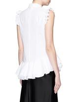 'Camelia' cotton piqué ruffle blouse