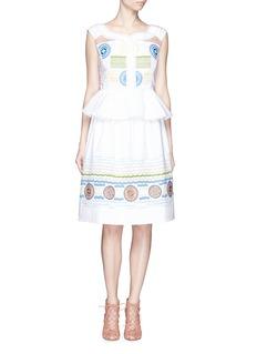 PETER PILOTTO'Iris' kaleidoscope wave embroidery midi skirt