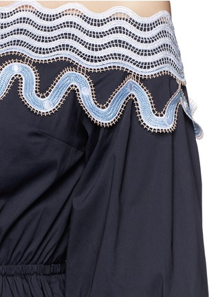 Detail View - Click To Enlarge - Peter Pilotto - 'Pallas' wavy lace trim off-shoulder dress