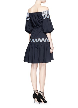 Back View - Click To Enlarge - Peter Pilotto - 'Pallas' wavy lace trim off-shoulder dress