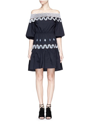 Main View - Click To Enlarge - Peter Pilotto - 'Pallas' wavy lace trim off-shoulder dress