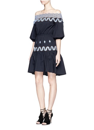 Figure View - Click To Enlarge - Peter Pilotto - 'Pallas' wavy lace trim off-shoulder dress