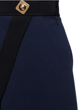 Detail View - Click To Enlarge - Peter Pilotto - 'Danis' lace hem wool crepe A-line skirt