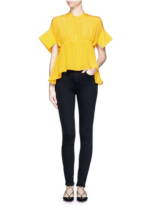 Figure View - Click To Enlarge - VICTORIA, VICTORIA BECKHAM - 'Powerhigh' high waist skinny jeans