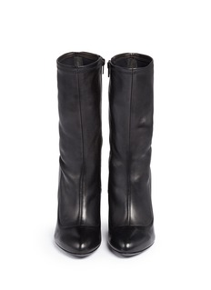 GIVENCHY Column heel leather boots