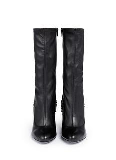 GIVENCHYFleur de lys leather column heel boots