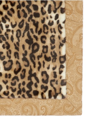 Detail View - Click To Enlarge - Etro - Leicester Belgrave faux leopard fur throw