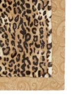 Leicester Belgrave faux leopard fur throw