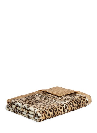 Main View - Click To Enlarge - Etro - Leicester Belgrave faux leopard fur throw