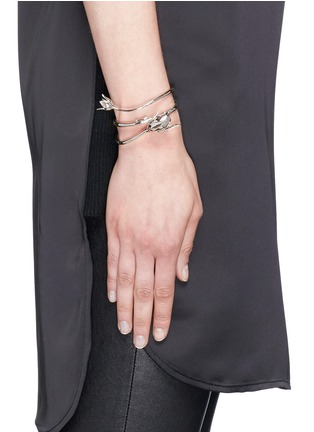 Figure View - Click To Enlarge - Eddie Borgo - 'Climbing Rose' crystal pavé cone bud cuff