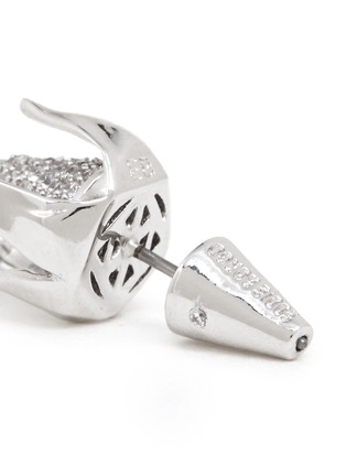Eddie Borgo-Crystal pavé rose bud earrings