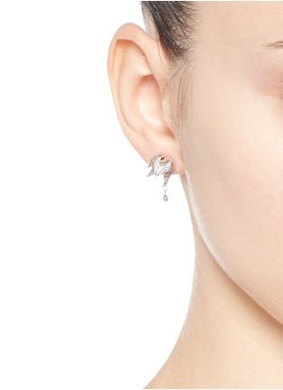 Figure View - Click To Enlarge - Eddie Borgo - Crystal pavé rose bud earrings