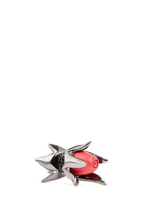 Detail View - Click To Enlarge - Eddie Borgo - Crystal pavé matte rose bud earrings