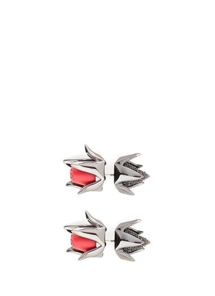 Main View - Click To Enlarge - Eddie Borgo - Crystal pavé matte rose bud earrings