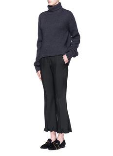 STELLA MCCARTNEY'Myles' ruffle cuff wool-mohair pants