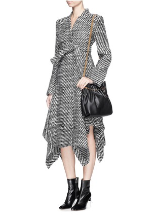 Figure View - Click To Enlarge - Stella McCartney - 'Claudine' asymmetric hem tweed coat