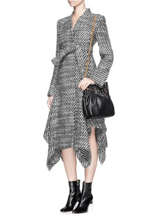 STELLA MCCARTNEY'Claudine' asymmetric hem tweed coat