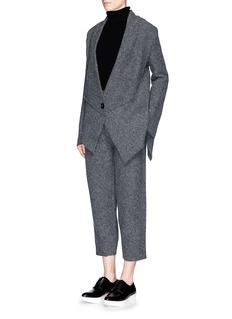 STELLA MCCARTNEYAsymmetric hem boiled wool knit cardigan