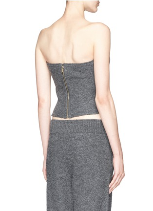 Back View - Click To Enlarge - Stella McCartney - Boiled wool bustier top
