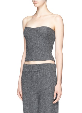 Front View - Click To Enlarge - Stella McCartney - Boiled wool bustier top