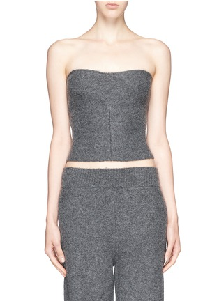 Main View - Click To Enlarge - Stella McCartney - Boiled wool bustier top