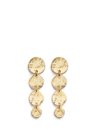 Main View - Click To Enlarge - Kenneth Jay Lane - Graduating gold plated coin charm drop earrings