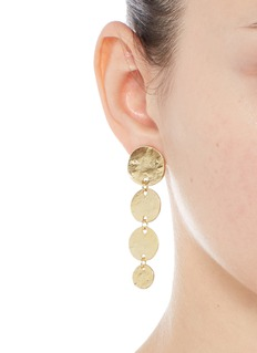 Kenneth Jay LaneGraduating gold plated coin charm drop earrings