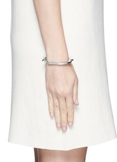 Lynn Ban'Handcuff 2' diamond sterling silver hinged bangle