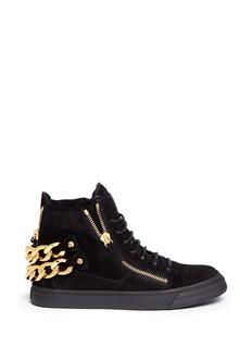 GIUSEPPE ZANOTTI DESIGN'London' double chain suede sneakers