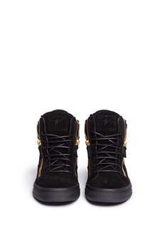 GIUSEPPE ZANOTTI DESIGN 'London' double chain suede sneakers