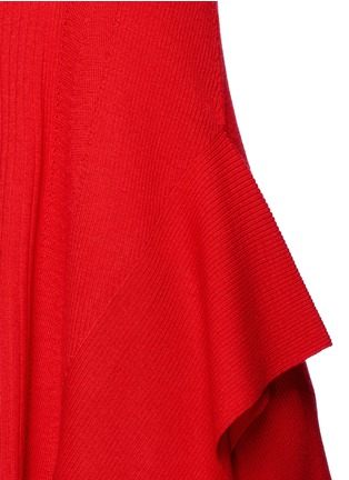 Detail View - Click To Enlarge - T By Alexander Wang - Buckle strap wool knit tank top